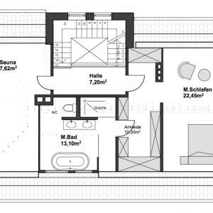 Jugendstilhaus mit Entwicklungspotenzial Hamburg Lokstedt Dachgeschoss Masterbedroom En-Suite-Bad