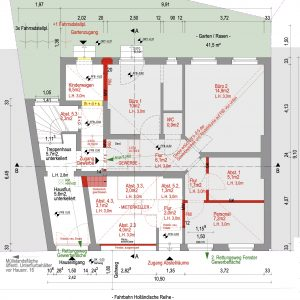 Mehrfamilienhaus Zinshaus Denkmalschutz Hamburg Ottensen Projektentwicklung Eigentumswohnungen Sanierung Dachausbau Historische Fassade Erdgeschoss Umbau