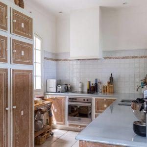 Villa Les Parcs de Saint-Tropez Cote d`Azur Meerblick Küche