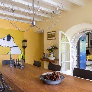 Villa Les Parcs de Saint-Tropez Cote d`Azur Meerblick Esszimmer