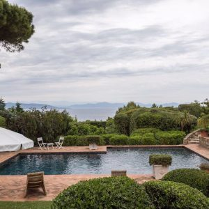 Villa Les Parcs de Saint-Tropez Cote d`Azur Meerblick Pool Terrasse