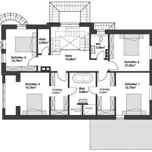 Jugendstilhaus mit Entwicklungspotenzial Hamburg Lokstedt Obergeschoss Kinderzimmer Ankleide Bäder