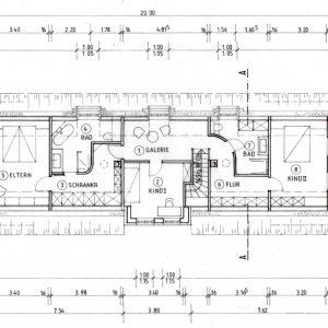 Reetdachhaus Nordfriesische Inseln Grundriss Obergeschoss