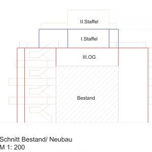 Mehrfamilienhaus Zinshaus Hamburg Altona Projektentwicklung Eigentumswohnungen Umbau Sanierung Dachausbau Neubau Altbaufassade Schnitt