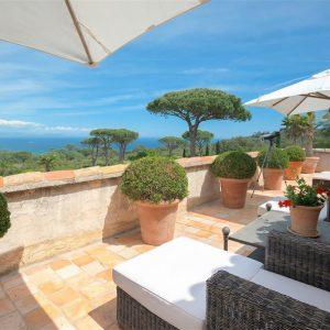 Villa Cote d`Azur Saint-Tropez Ramtuelle Meerblick Pampelonne Terrasse