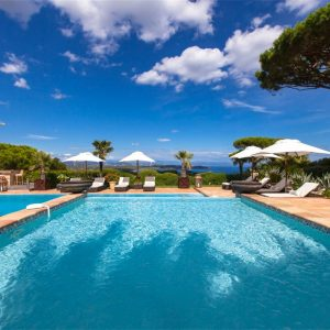 Villa Cote d`Azur Saint-Tropez Ramtuelle Meerblick Pampelonne Terrasse Pool Meerblick