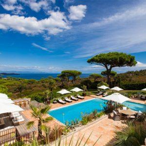 Villa Cote d`Azur Saint-Tropez Ramtuelle Meerblick Pampelonne Terrasse Ausblick