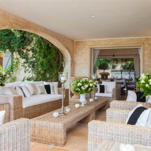 Villa Cote d`Azur Saint-Tropez Ramtuelle Meerblick Pampelonne Terrasse Lounge