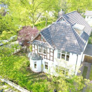 Jugendstilhaus mit Entwicklungspotenzial Hamburg Lokstedt Garten Luftbild