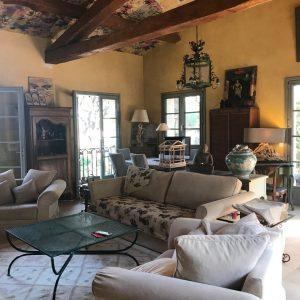 Villa Saint-Tropez Cote d`Azur Meerblick Parc des Salins Bastide Charmantes Haus Wohnzimmer