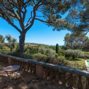 Villa Saint-Tropez Cote d`Azur Terrasse Meerblick