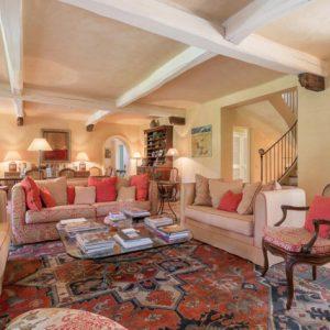 Villa Saint-Tropez Cote d`Azur Wohnzimmer