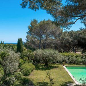 Villa Saint-Tropez Cote d`Azur Pool Meerblick