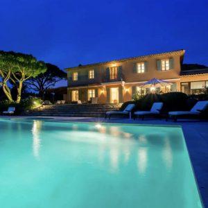 Villa Saint-Tropez Bastide du Pinet Cote d`Azur Pool Terrasse Haus Gartenbeleuchtung Ferienhaus
