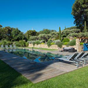 Villa Saint-Tropez Ramatuelle Bastide Cote d`Azur Ferienhaus Pool Sommerküche Terrasse
