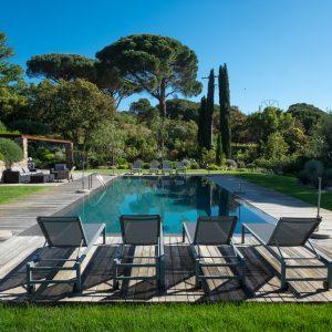 Villa Saint-Tropez Ramatuelle Bastide Cote d`Azur Ferienhaus Garten Pool Poolhaus
