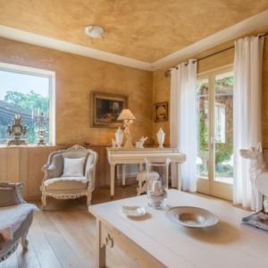 Villa Saint-Tropez Ramatuelle Landsitz Cote d`Azur Ferienhaus Wohnzimmer