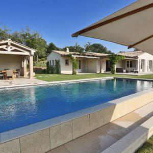Villa Saint-Tropez Ramatuelle Cote d`Azur Ferienhaus Pool Garten Panoramablick Terrasse