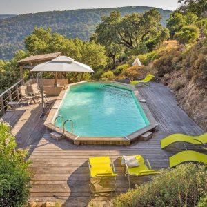 Villa La Garde Freinet Landsitz Cote d`Azur Ferienhaus Pool Terrasse Weitblick