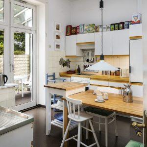 Jugendstilhaus mit Entwicklungspotenzial Hamburg Lokstedt Küche Terrasse