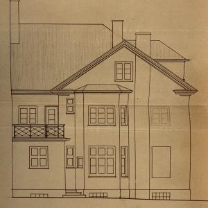Historisches Wohnhaus 1870 an der Elbe Villa Elbblick Treppenviertel Rückseite