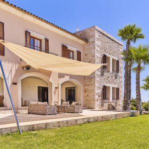 Mallorca Villa ALQUERIA BLANCA - NEUBAUFINCA MEERBLICK Lounge Terrasse