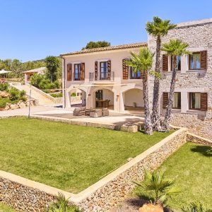 Mallorca Villa ALQUERIA BLANCA - NEUBAUFINCA MEERBLICK Pool Sonnendeck Ausblick Garten