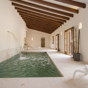 Mallorca Villa ALQUERIA BLANCA - NEUBAUFINCA MEERBLICK Poolhaus Gästehaus