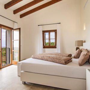 Mallorca Villa ALQUERIA BLANCA - NEUBAUFINCA MEERBLICK Pool Schlafzimmer Weitblick
