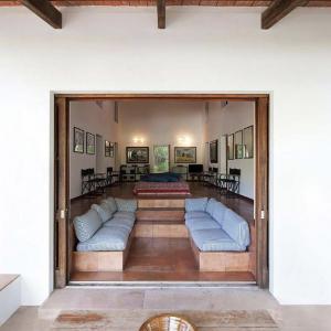 Formentera Ibiza Villa Wohnzimmer Loft Sitzecke