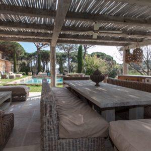 Villa Saint-Tropez Ramatuelle Landsitz Cote d`Azur Ferienhaus Pool Garten Terrasse Lounge Poolhaus