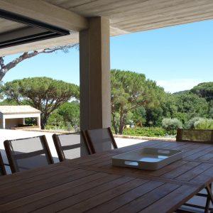 Villa Saint-Tropez Ramatuelle Landsitz Cote d`Azur Neubau Garten Terrasse