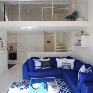 Fischerhaus Saint-Tropez Cote d`Azur Ferienwohnung Wohnzimmer Galerie Küche