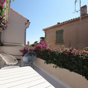Fischerhaus Saint-Tropez Cote d`Azur Ferienwohnung Terrasse Blick