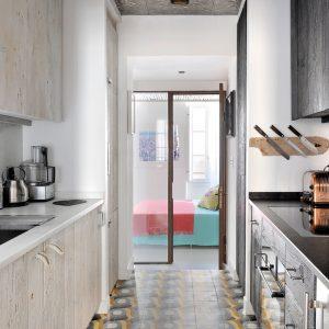 Apartment Loft Saint-Tropez Cote d`Azur Ferienwohnung Küche