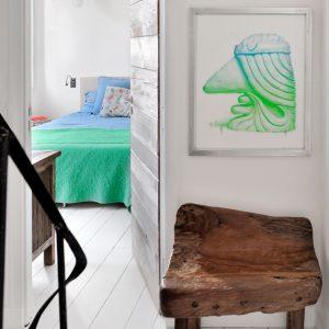 Apartment Loft Saint-Tropez Cote d`Azur Ferienwohnung Schlafzimmer Flur