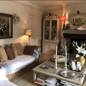 Sommerhaus Saint-Tropez - Wohnzimmer mit Kamin