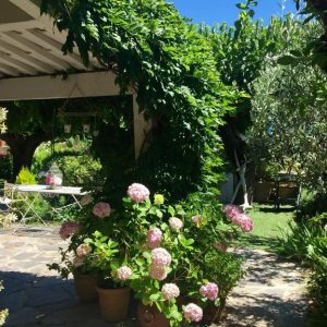 Sommerhaus Saint-Tropez - überdachte Terrasse