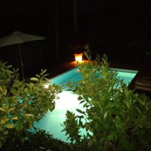 Sommerhaus Saint-Tropez - Pool bei Nacht